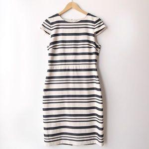 J.Crew • Double-Stripe Career Pencil Dress